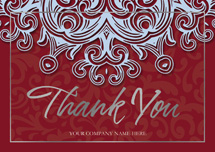 Blue Velvet Thank You Cards